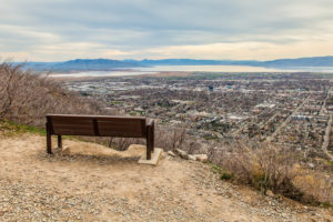 Bench overlook of Provo-Orem