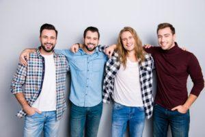 Men standing together